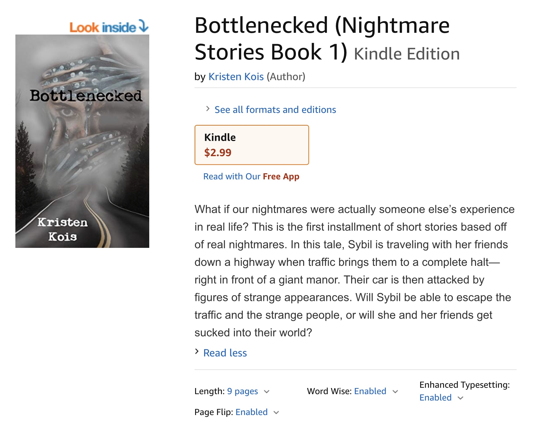 "Short story ""Bottlenecked"" available on Kindle"