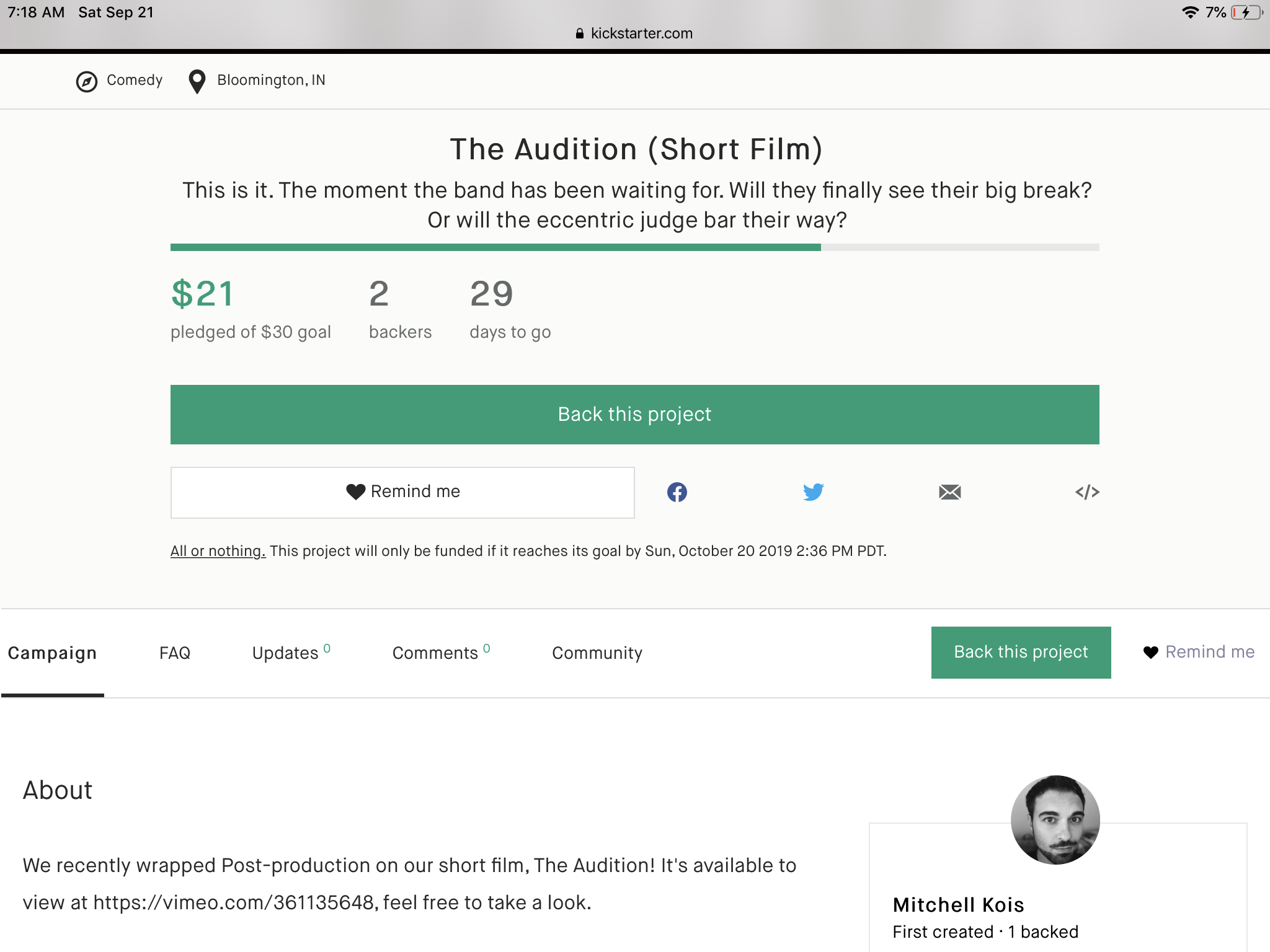 Support the film by going to Kickstarter