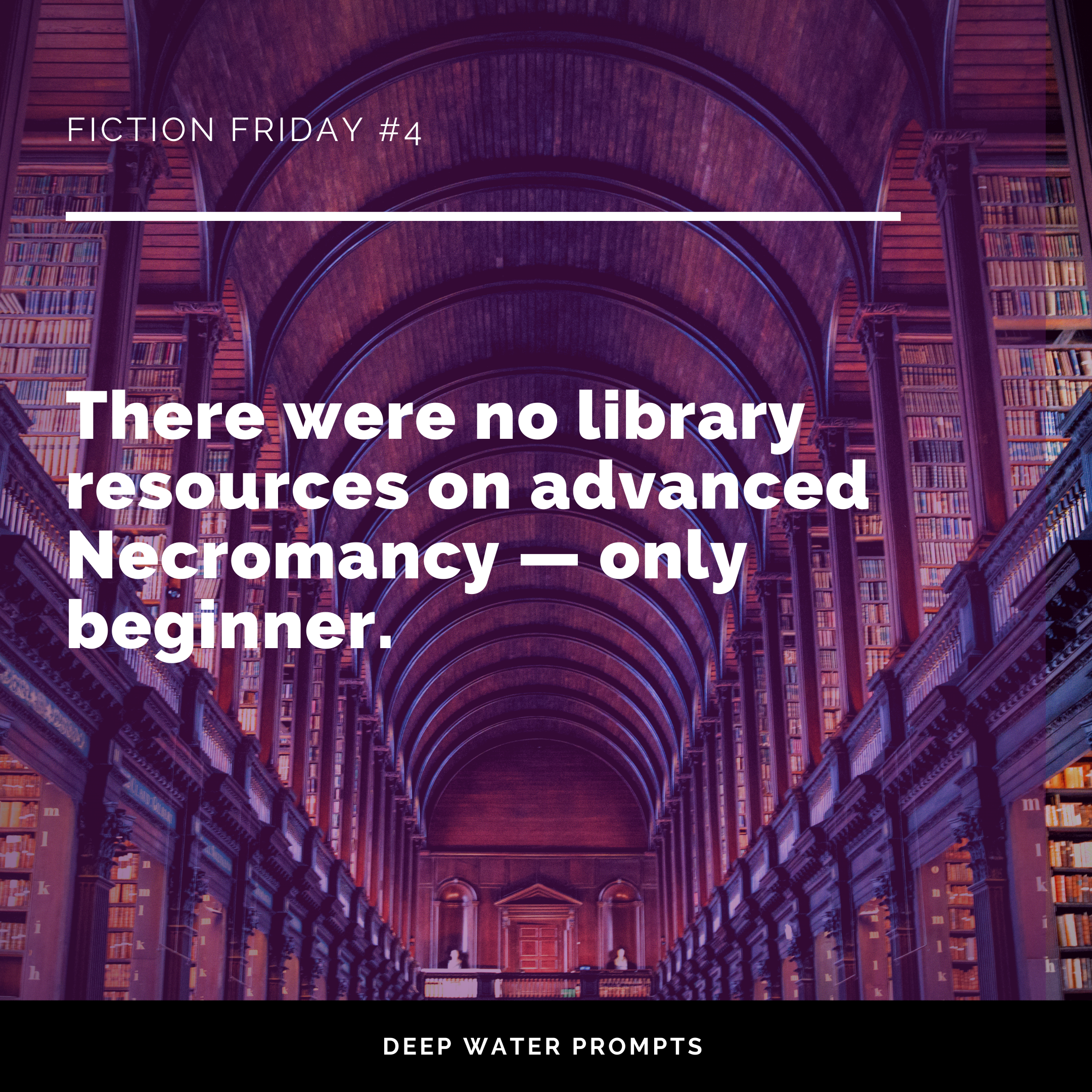 There were no library resources on advanced Necromancy — only beginner.