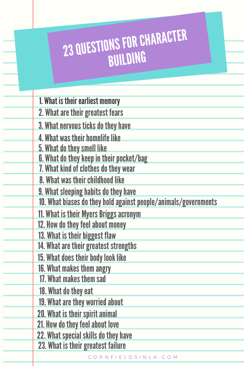 23 Questions For Character Building